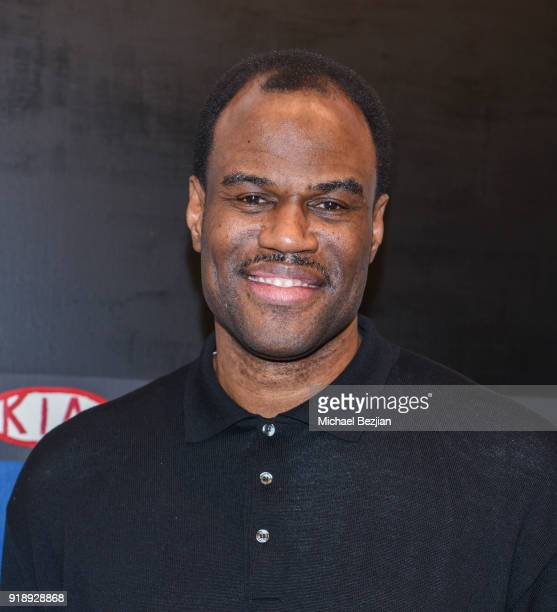 David Robinson attends Amare Stoudemire hosts ART OF THE GAME art show presented by Sotheby's and Joseph Gross Gallery on February 15 2018 in Los...