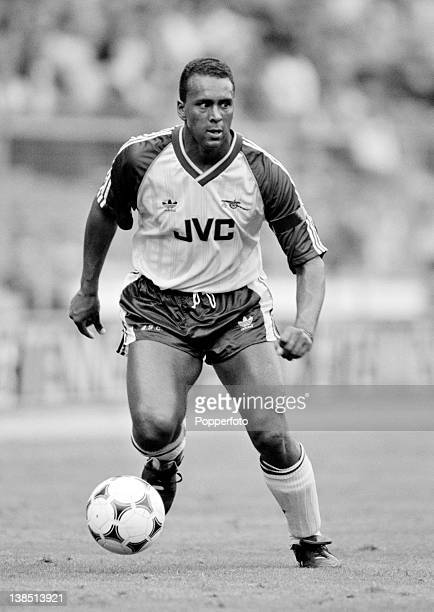 David Rocastle in action for Arsenal during the Final of the Makista International tournament against Liverpool at Wembley Stadium in London 30th...