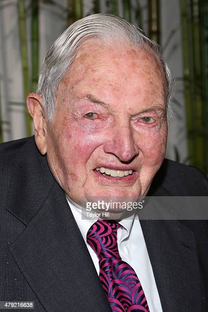 David Rockefeller attends the 2015 Party in the Garden at Museum of Modern Art on June 2 2015 in New York City