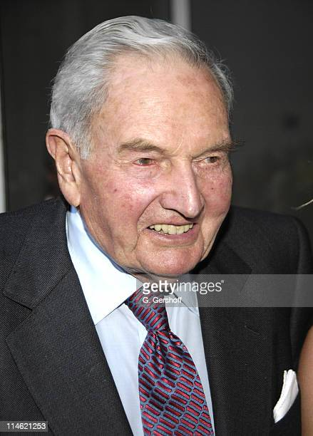 David Rockefeller during MoMA Celebrates Opening of Richard Serra Sculpture Forty Years at The Museum of Modern Art in New York City New York United...