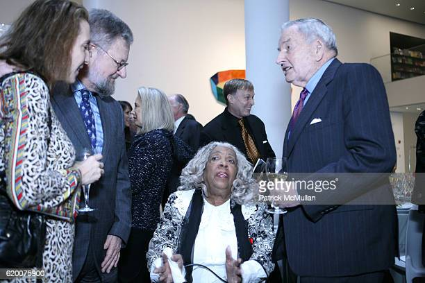 David Rockefeller Jr Helen Stewart and Louis Cullman attend The Museum of Modern Art Honors Peter G Peterson with the David Rockefeller Award at The...
