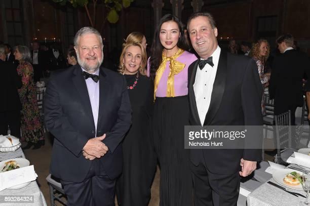 David Rockefeller Jr Susan Cohn Rockefeller and Tony Marx attends the Berggruen Prize Gala at the New York Public Library on December 14 2017 in New...