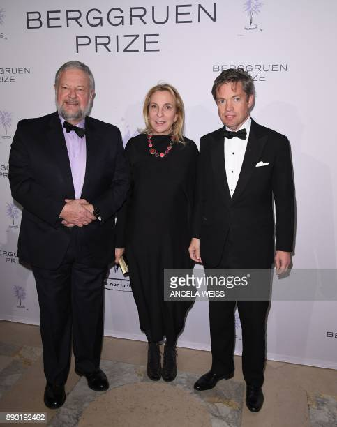 David Rockefeller Jr Susan Rockefeller and Nicolas Berggruen attend the 2017 Berggruen Prize Gala at the New York Public Library on December 14 2017...