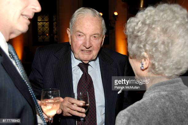 David Rockefeller Sr attends INFINITY OF NATIONS Gala at National Museum of the American Indian on October 20 2010 in New York City