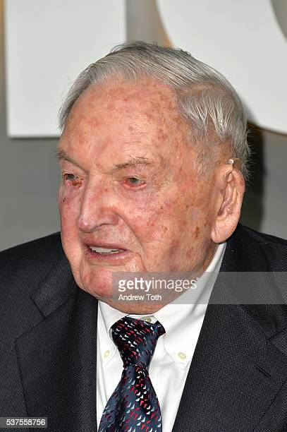 David Rockefeller Sr attends the 2016 Museum Of Modern Art Party In The Garden at Museum of Modern Art on June 1 2016 in New York City