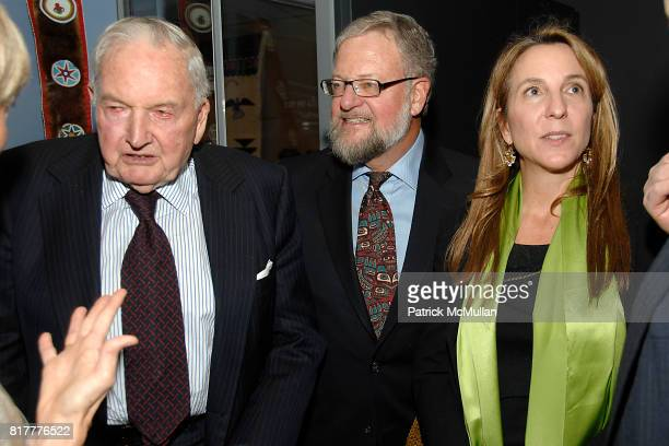 David Rockefeller Sr David Rockefeller Jr and Susan Rockefeller attend INFINITY OF NATIONS Gala at National Museum of the American Indian on October...