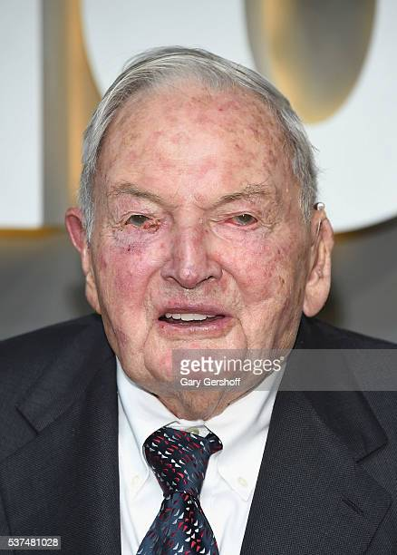 David Rockefeller Srattends the 2016 Museum of Modern Art Party in the Garden at Museum of Modern Art on June 1 2016 in New York City