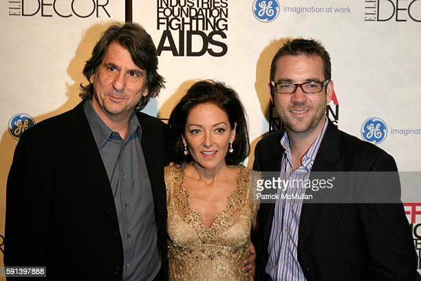 David Rockwell, Margaret Russell and Ted Allen attend The 8th Annual Elle Decor Dining By Design Cocktail Party and Dinner, Benefiting DIFFA at The...