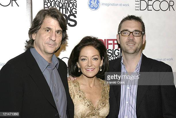 """David Rockwell, Margaret Russell and Ted Allen during The Eighth Annual Elle Decor's """"Dining by Design"""" at Hammerstein Ballroom in New York City, New..."""