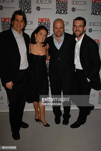 David Rockwell Margaret Russell Barry Rice and Ted Allen attend ELLE Decor Dining By Design Dinner at Waterfront NYC USA on March 13 2006