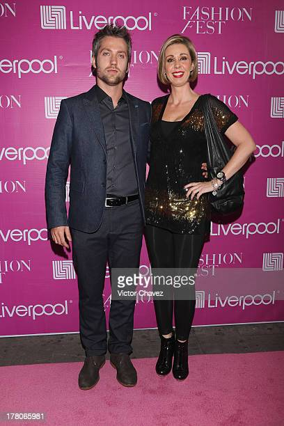 David Rodenas and Atala Sarmiento attend the Liverpool Fashion Fest Autumn/Winter 2013 at Club de Banqueros on August 22 2013 in Mexico City Mexico