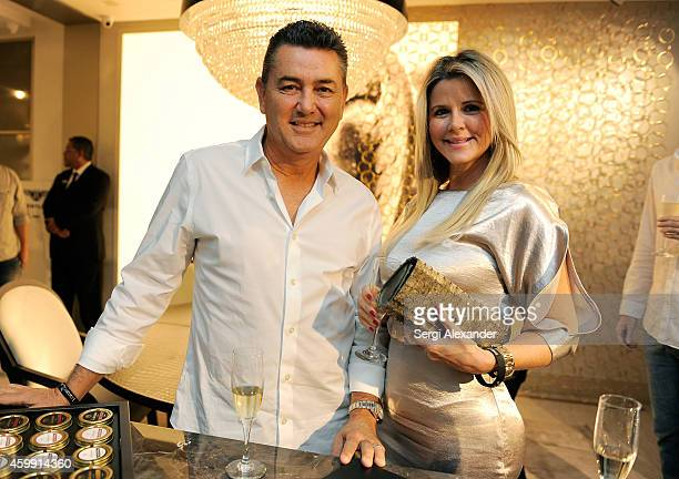 David Rodriguez and Alina Rodriguez attend Luxury Living Showroom Art Basel Miami Beach Event on December 3 2014 in Miami Florida