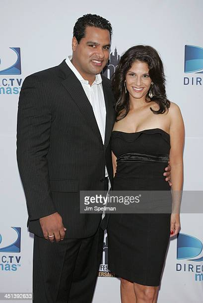 David Rodriguez and Darlene Rodriguez attend the 10th Anniversary New York International Latino Film Festival premiere of The Line at SVA Theater on...