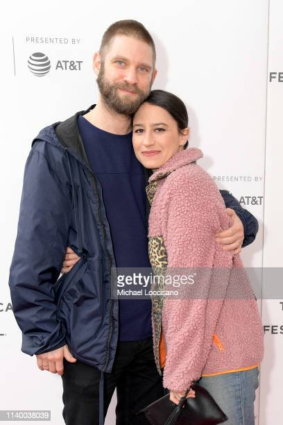 """David Rooklin and Ilana Glazer attend the """"Lucky Grandma"""" screening during the 2019 Tribeca Film Festival at Village East Cinema on April 28, 2019 in..."""