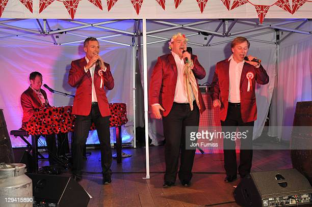 David Roper David Wickenden Ian Parkin and Stephen de Martin of Four Poofs And A Piano attends the Pimm's Summer Party to celebrate the start of...