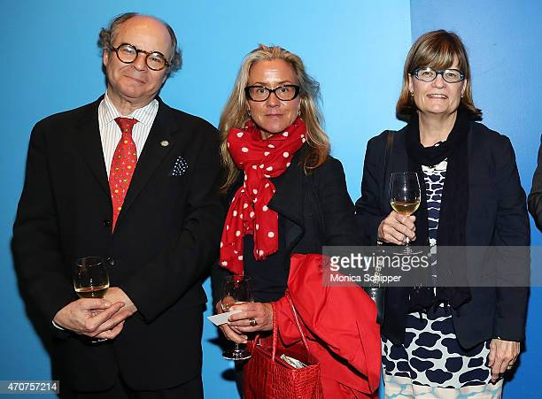 David Ross Renee Ketcham and Bess Reynolds attend Lafayette Premiere Chef Daniel Boulud Dinner at FIAF on April 22 2015 in New York City