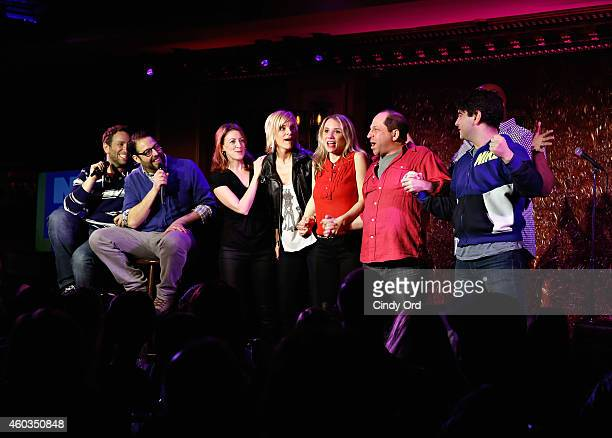 David Rossmer Steve Rosen Kate Wetherhead Jenn Colella Sarah Saltzberg Jason Kravits James Monroe Iglehart and Alex Brightman perform in Don't Quit...