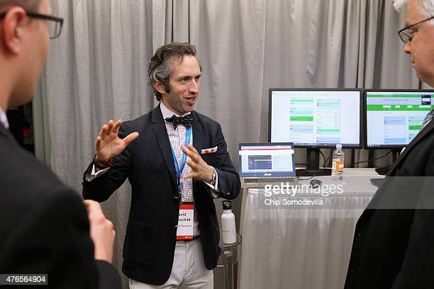 David Rothschild of Microsoft Research talks about the Prediction Lab software during the Microsoft Innovation and Policy Center's TechFair June 10...