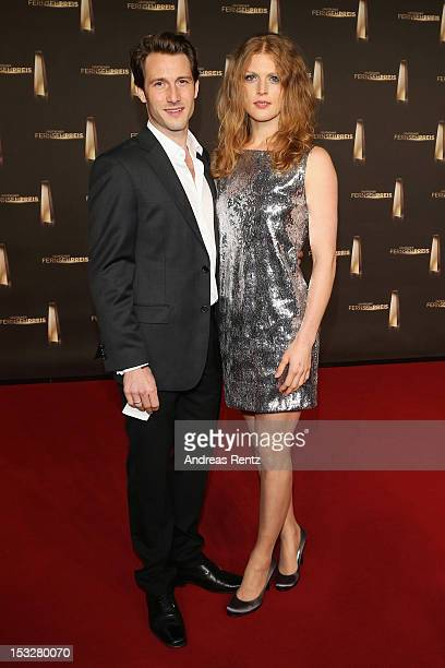 David Rott and Elena Rott arrive for the German TV Award 2012 at Coloneum on October 2 2012 in Cologne Germany