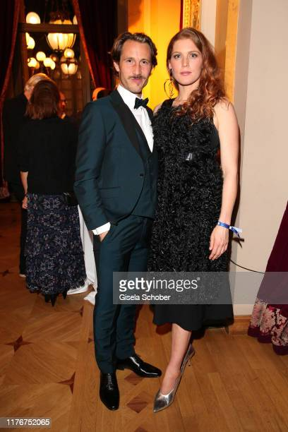 David Rott and his wife Elena Rott during the Hessian Film and Cinema Award at Alte Oper on October 18 2019 in Frankfurt am Main Germany
