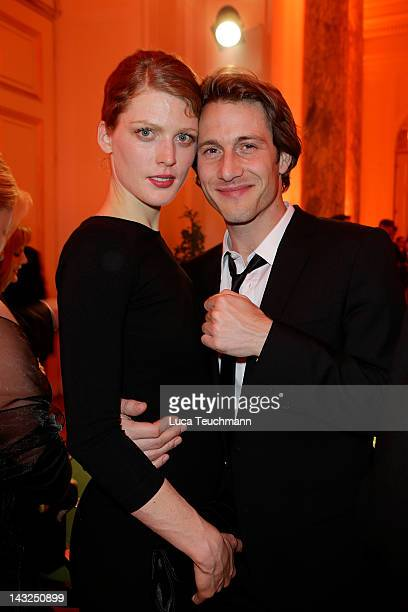 David Rott and wife Elena attend the 23nd KURIER ROMY Gala at the Hofburg on April 16 2011 on April 21 2012 in Vienna Austria