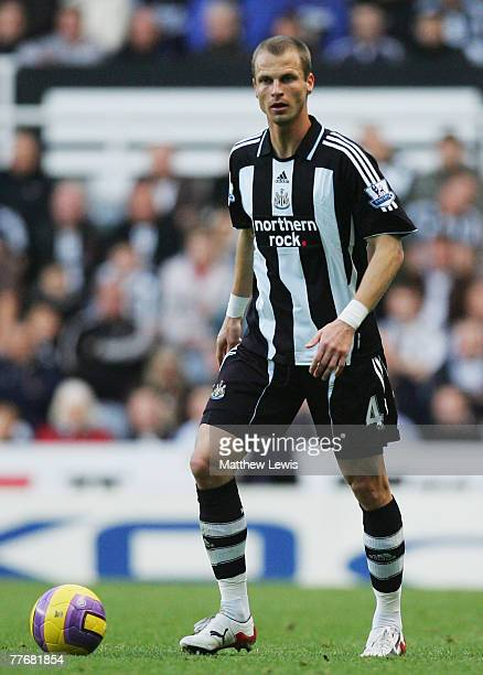 David Rozehnal of Newcastle United in action during the Barclays Premier League match between Newcastle United and Portsmouth at StJames Park on...