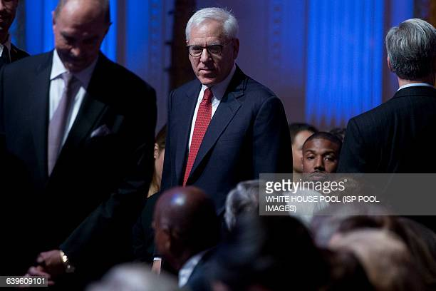 """David Rubenstein, co-founder and co-chief executive officer of Carlyle Group LP, attends the """"In Performance at the White House"""" event in the East..."""