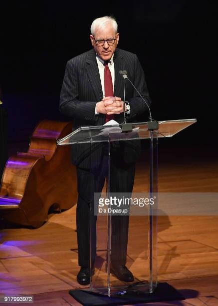 David Rubenstein speaks onstage the Winter Gala at Lincoln Center at Alice Tully Hall on February 13 2018 in New York City