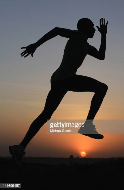 David Rudisha of Kenya 800m World record holder and World 800m champion during a training session on February 6 2012 in Iten Kenya