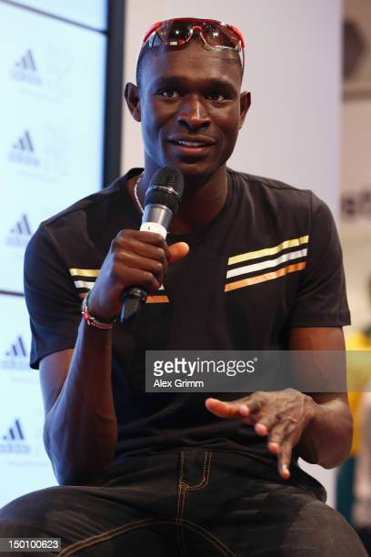 David Rudisha of Kenya at the adidas Olympic Media Lounge at Westfield Stratford City on August 10 2012 in London England