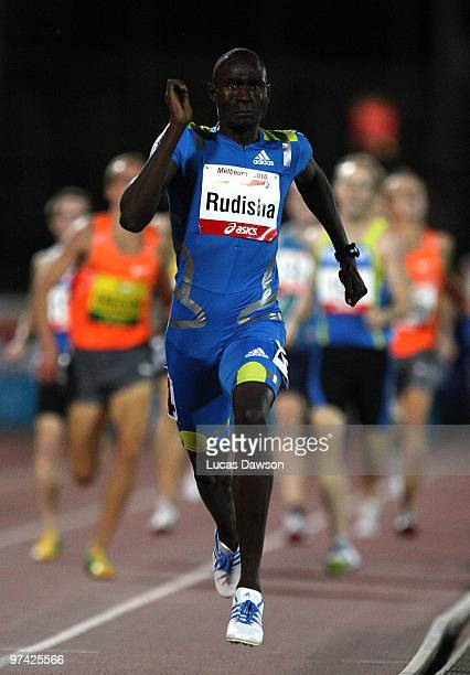David Rudisha of Kenya easily wins the Mens 800 Metres during the IAAF Melbourne Track Classic at Olympic Park on March 4 2010 in Melbourne Australia
