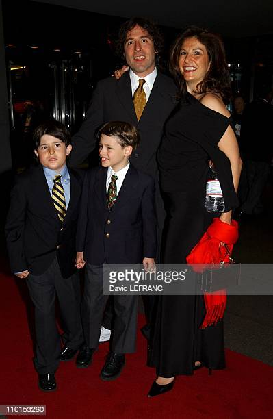 David Russell and family at the Museum of Modern Art for 'A Work in Progress An evening with David Russell' in New York United States on April 10...