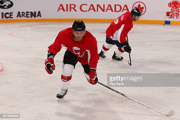 David Rutherford of Canada practices during an International Ice Hockey Tour 2014 Media Opportunity at Perth Arena on July 10 2014 in Perth Australia