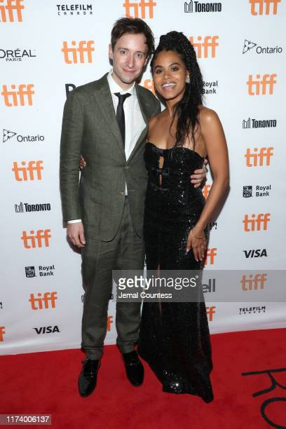 """David Rysdahl and Zazie Beetz attend the """"Lucy In The Sky"""" premiere during the 2019 Toronto International Film Festival at Princess of Wales Theatre..."""