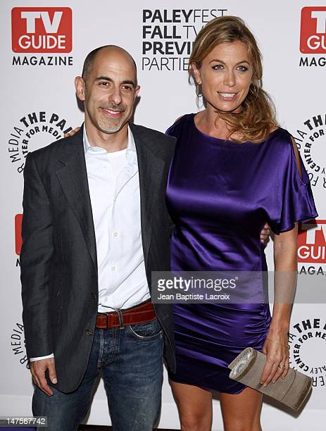 David S Goyer and Sonya Walger arrive at The PaleyFest TV Guide Magazine's ABC Fall TV Preview Party at The Paley Center for Media on September 15...