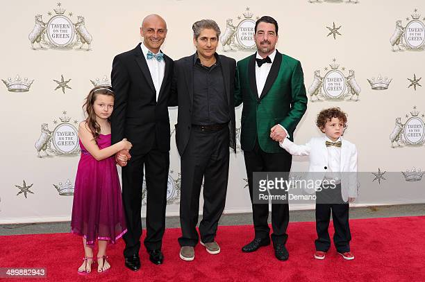 David Salama Michael Imperioli Jim Caiola and kids attend the Tavern on the Green Grand Opening Gala on May 12 2014 in New York City