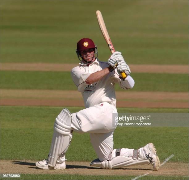 David Sales batting for Northamptonshire during the CG Trophy Quarter Final between Warwickshire and Northamptonshire at Edgbaston Birmingham 16th...