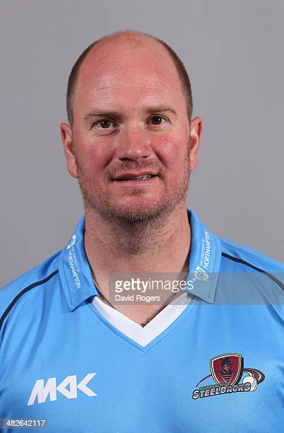 David Sales poses for a portrait in the One Day Cup kit during the Northamptonshire CCC photocall held in the Northampton Market Square on April 4...