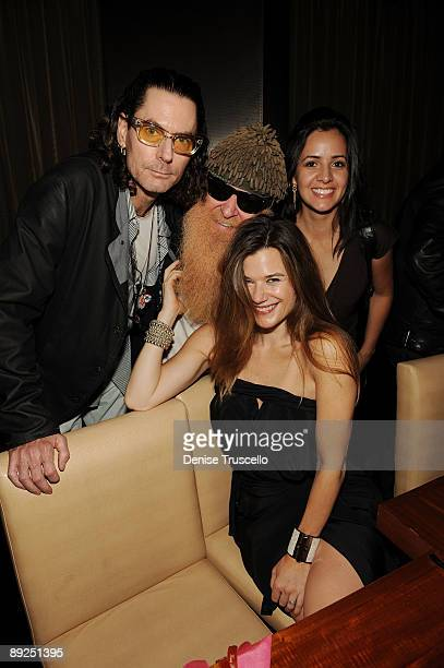 David Saltz, Billy Gibbons and Gilligan Stillwater attend Slash's birthday dinner at Stack Restaurant at The Mirage Hotel and Casino on July 24, 2009...