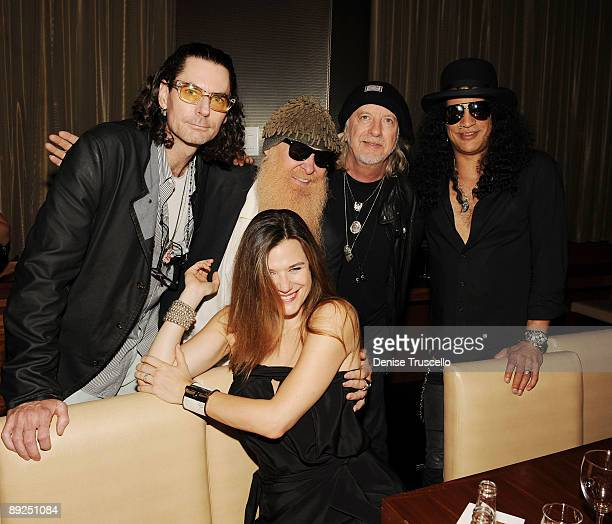 David Saltz Gilligan Stillwater Billy Gibbons Brad Whitford and Slash attend Slash's birthday dinner at Stack Restaurant at The Mirage Hotel and...