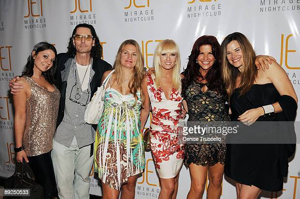 David Saltz, Kimberly Whitford, Ace Harper, Perla Hudson and Gilligan Stillwater arrives at Jet Nightclub at The Mirage Hotel and Casino on July 24,...