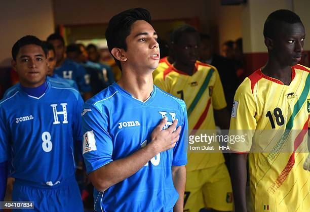 David Sanchez of Honduras leaves the tunnel prior to the FIFA U17 World Cup Chile 2015 Group D match between Mali and Honduras at Estadio Nelson...