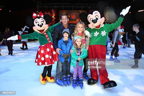 David Sanov Alison Sweeney daughter Megan Hope and son Ben attend at Disney On Ice Presents Let's Celebrate Presented By Stonyfield YoKids Organic...