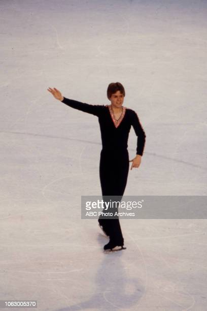 David Santee competing in the Men's figure skating event at the 1980 Winter Olympics / XIII Olympic Winter Games Olympic Center