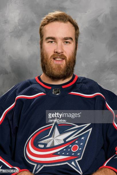 David Savard of the Columbus Blue Jackets poses for his official headshot for the 201718 season on September 14 2017 at Nationwide Arena in Columbus...
