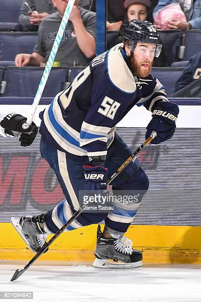 David Savard of the Columbus Blue Jackets skates against the Dallas Stars on November 1 2016 at Nationwide Arena in Columbus Ohio
