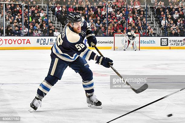David Savard of the Columbus Blue Jackets skates against the Montreal Canadiens on December 23 2016 at Nationwide Arena in Columbus Ohio