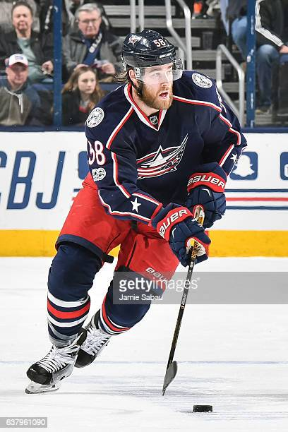 David Savard of the Columbus Blue Jackets skates against the New York Rangers on January 7 2017 at Nationwide Arena in Columbus Ohio