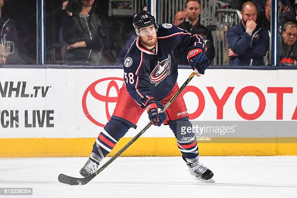 David Savard of the Columbus Blue Jackets skates against the San Jose Sharks on October 15 2016 at Nationwide Arena in Columbus Ohio