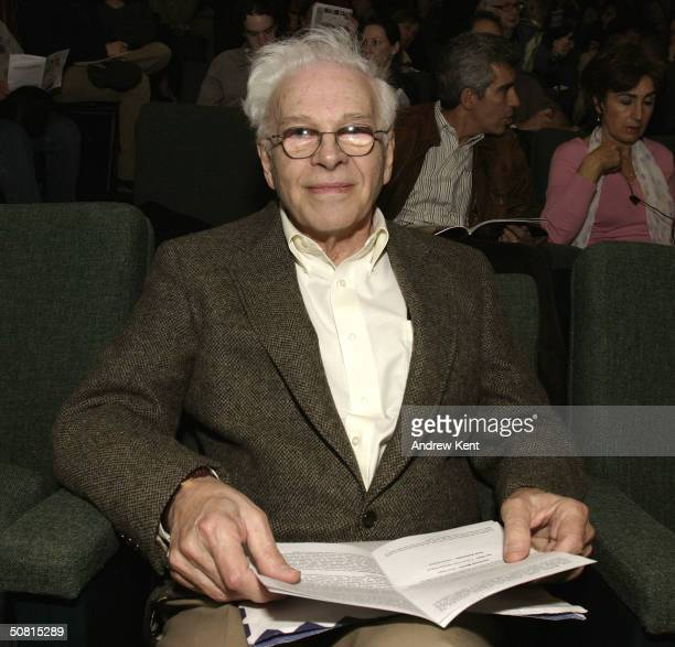 David Sayre poses at the Unraveling The Code Rosalind Franklin and DNA panel during the 2004 Tribeca Film Festival May 8 2004 in New York City